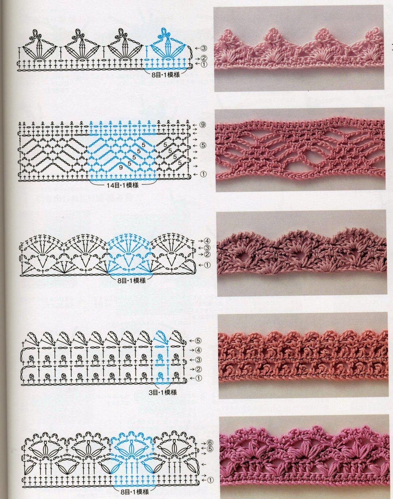 Barradinhos Pequenos De Crochê | Puntadas, Aplicación y Mamá