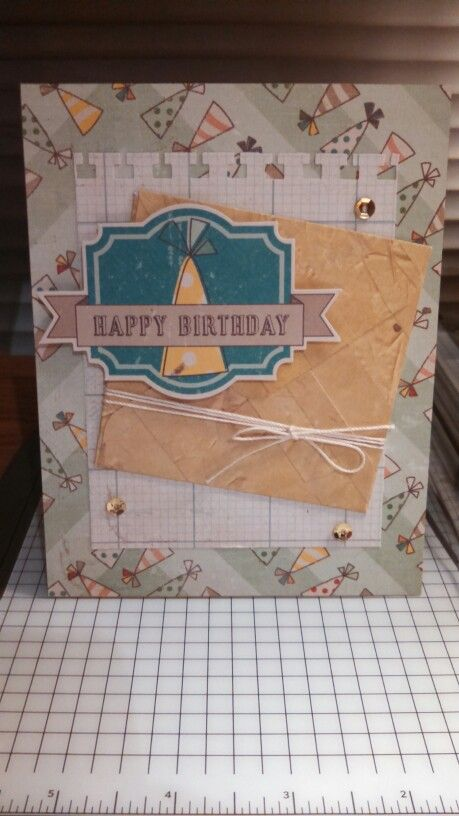 This is a card I made using the Crate Paper Party Day collection!