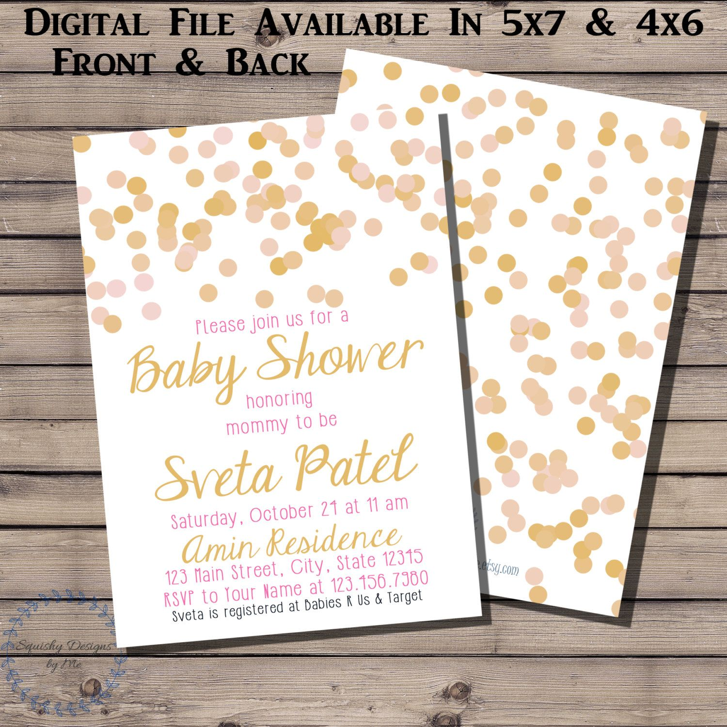 Baby Girl, Pink And Gold Baby Shower Decorations, Pink And