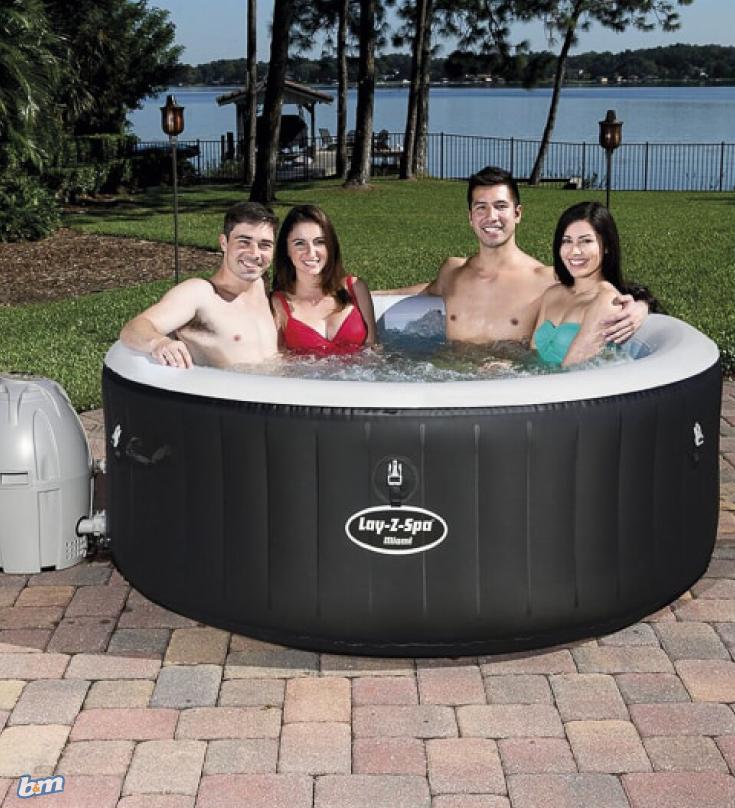 Lay Z Spa Miami Hot Tub Portable Hot Tub Hot Tub Outdoor Inflatable Hot Tubs