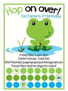 Frog pond birthday parties custom frog pond party invitation with frog pond birthday parties custom frog pond party invitation with party by poppinpaperparties filmwisefo Images
