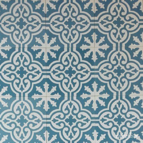 Photo of Historiske fliser – Marokkanske fliser 03 Blå-hvit 12 mm