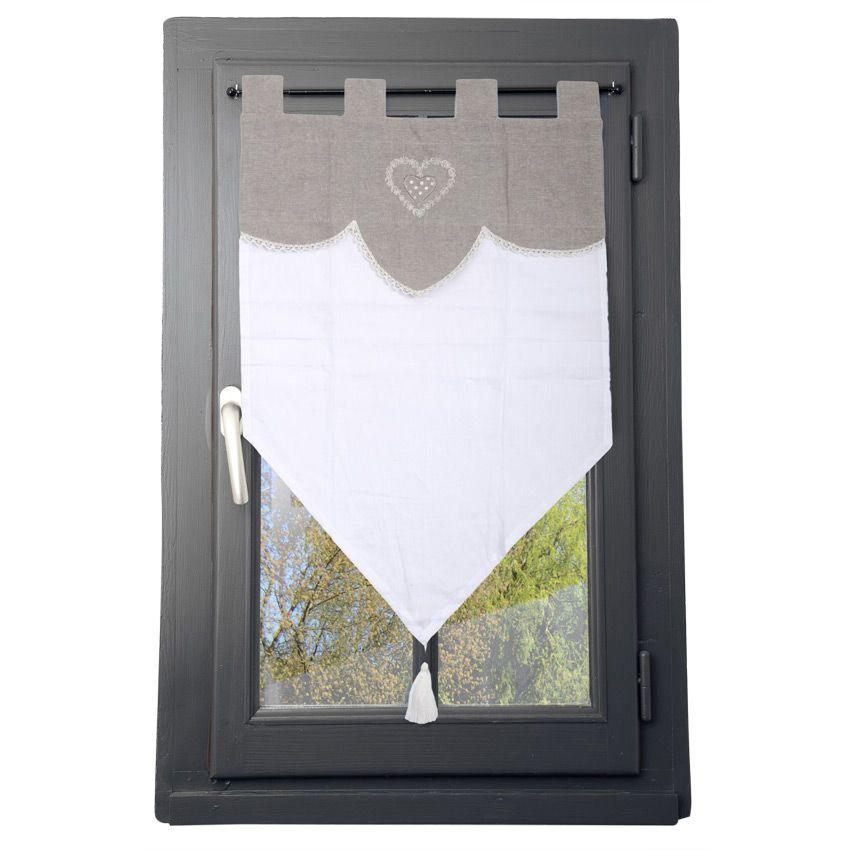 Tende A Vetro 45 Cm.Tende A Vetro 45 X H60 Cm Verona Adige Lino Curtains