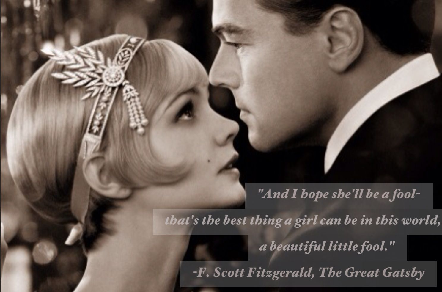 Love the book & now the movie. Great Gatsby