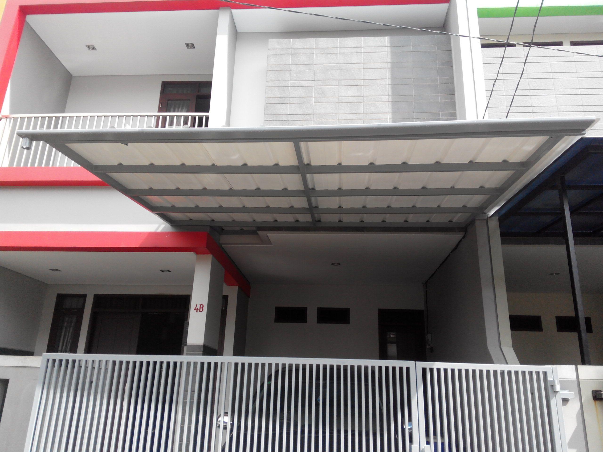 kanopi baja ringan tanpa tiang penyangga pin di arrayyan steel canopy