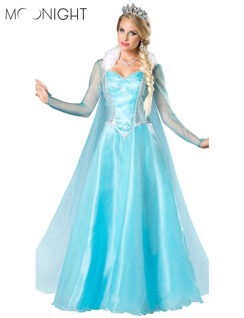 Cheapest Price Princess Anna Elsa Queen Girls Cosplay Costume Party ...