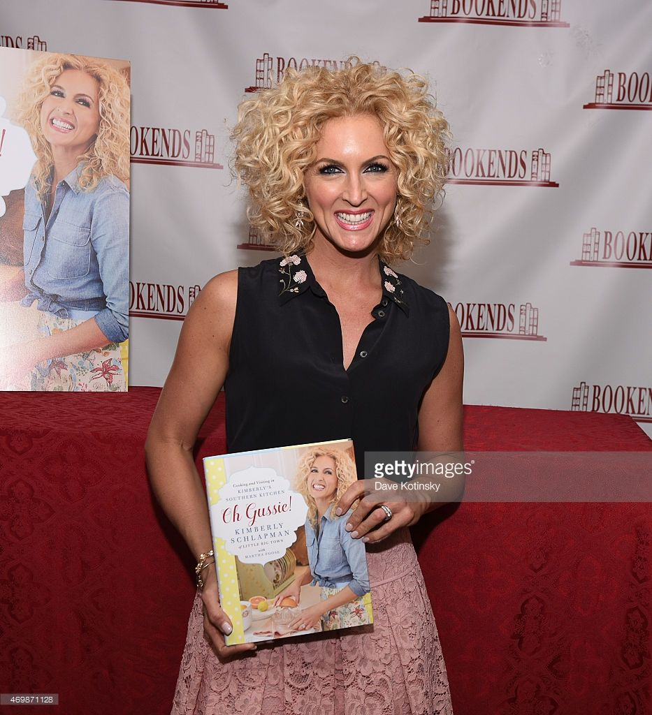 Kimberly Schlapman signs copies of her new cookbook 'Oh Gussie!'at Bookends on April 15, 2015 in Ridgewood, New Jersey.