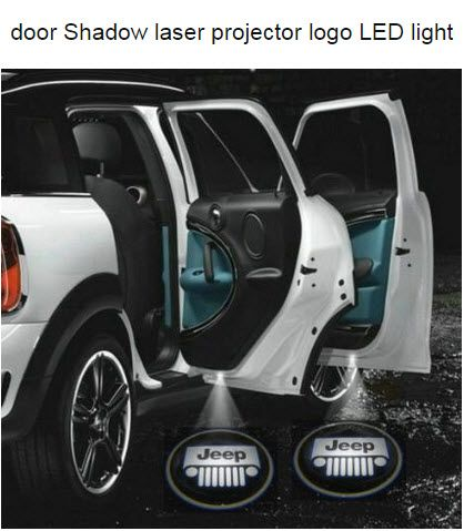 Jeep Led Door Lights That Shine Logo Jeep Accessories Jeep