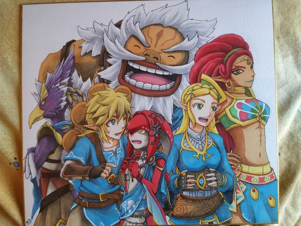 Princess Zelda And The 5 Champions Zelda Botw By Ragnarokemd On Deviantart Legend Of Zelda Princess Zelda Legend Of Zelda Breath