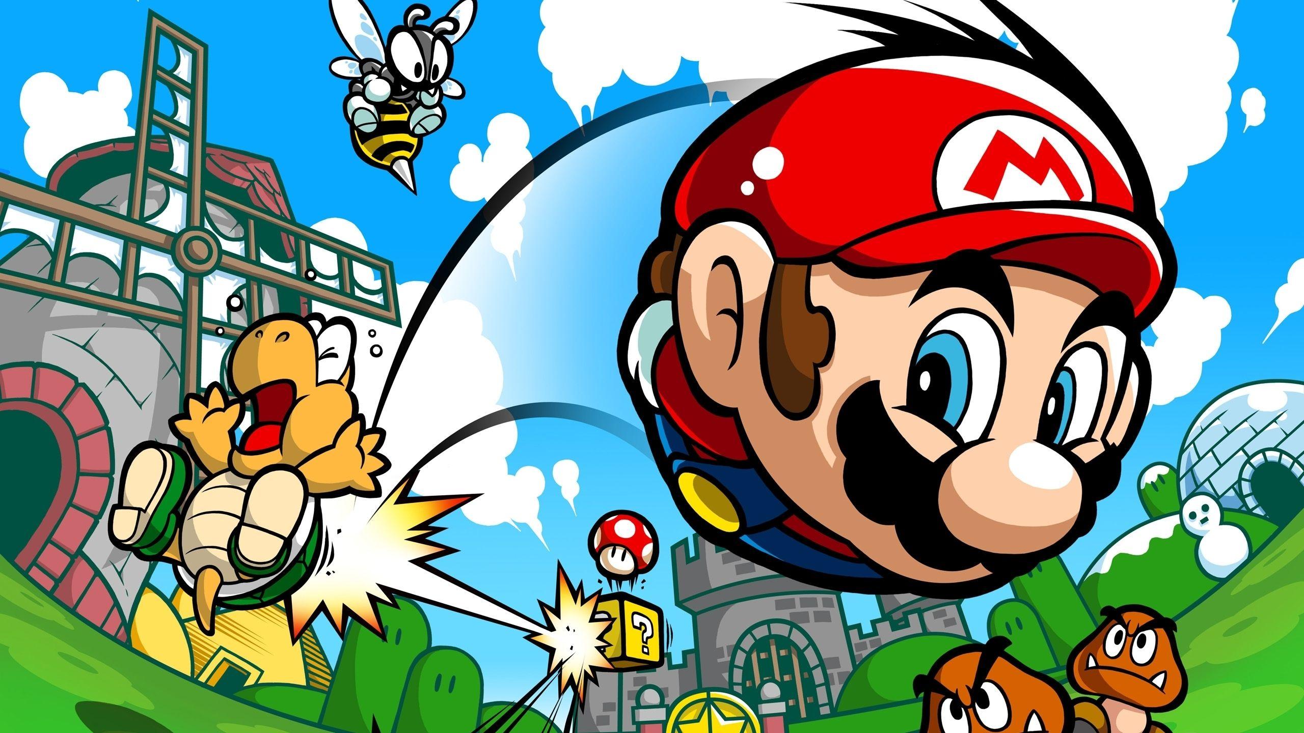 Super Mario 2560x1440 Character Wallpaper Super Mario Hd Wallpaper