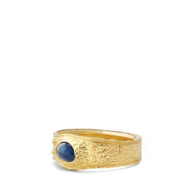 3281c2dc8f59c7 DY Men's Shipwreck Single Stone Band Ring in 22K Gold | Golden in ...