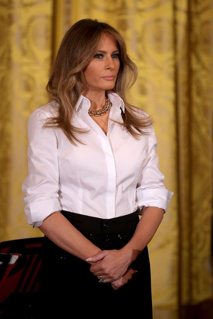 ddc10673f554a8 Melania Trump's Pants Have a Small, but Important Detail You Shouldn't Miss