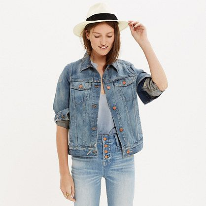 A perfect-fitting jean jacket will never ever go out of style ...