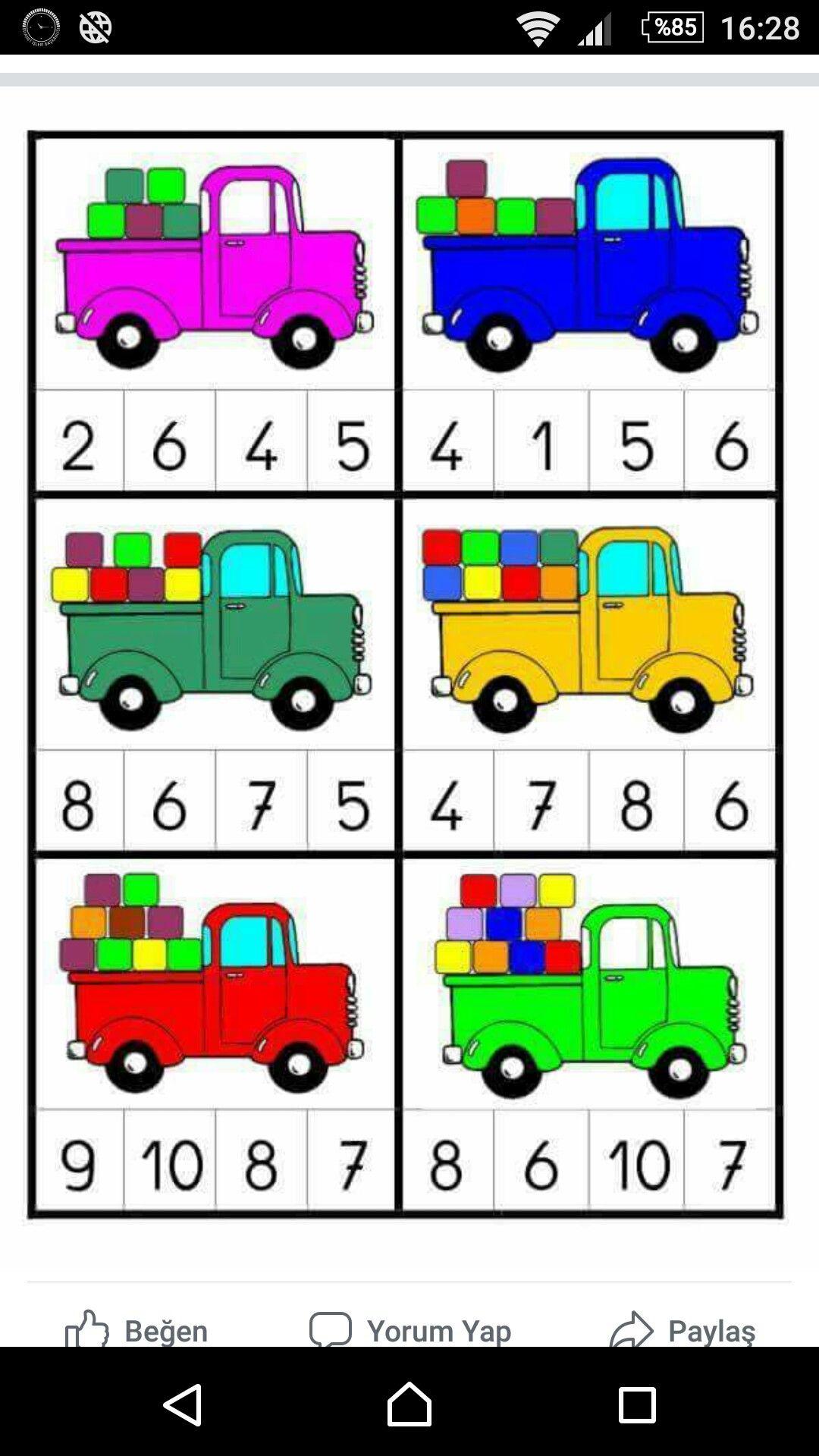 713608fc0 Numbers Preschool, Pre K, Maths, Montessori, Transportation, Kindergarten,  Activities,