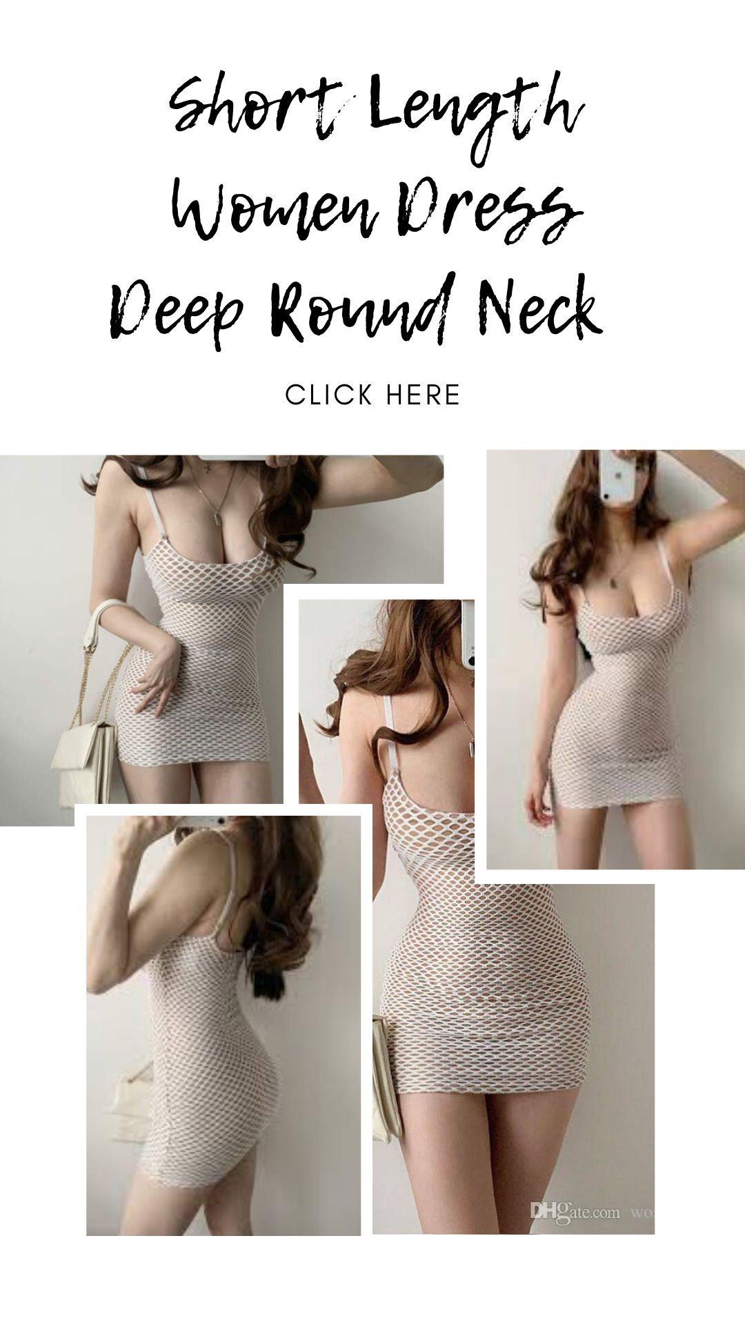 Short Length Women Dress Deep Round Neck #girl #girls #model #shoes #styles #outfit #instaheels #fashionshoes #shoelover #instashoes #highheelshoes #heelsaddict #loveheels #iloveheels #shoestagram