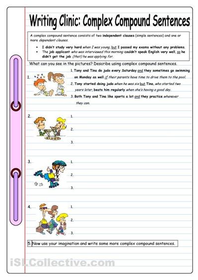 Worksheets Compound Complex Worksheet 17 best images about simple compound complex and compoundcomplex sentences on pinterest s