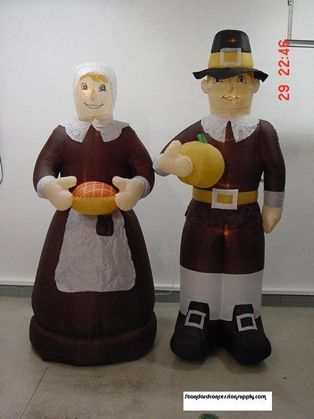 Thanksgiving Pilgrim Couple Inflatable | Thanksgiving ...
