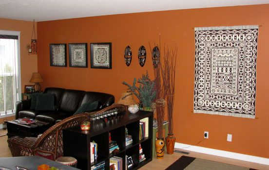 African Inspired Living Room End View For The Home Interior Home Interior Design