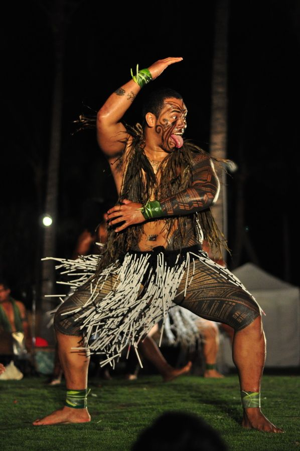 Famous Maori People: Maori Haka. Traditional Male Dance Of Aotearoa (Land Of