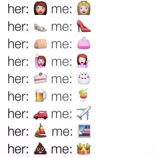 Pin By Lex On Humor Me Emoji Quotes Tbh Quotes Me Vs You