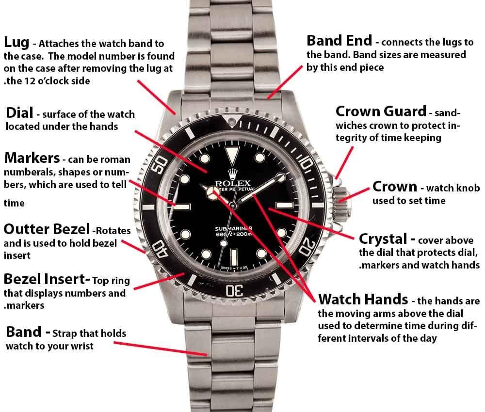 Watch wrist parts - Image Result For Rolex Submariner Parts Diagram 5513 1978