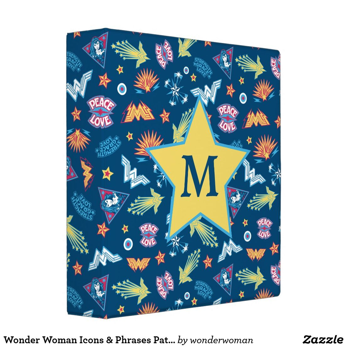 Wonder Woman Icons & Phrases Pattern