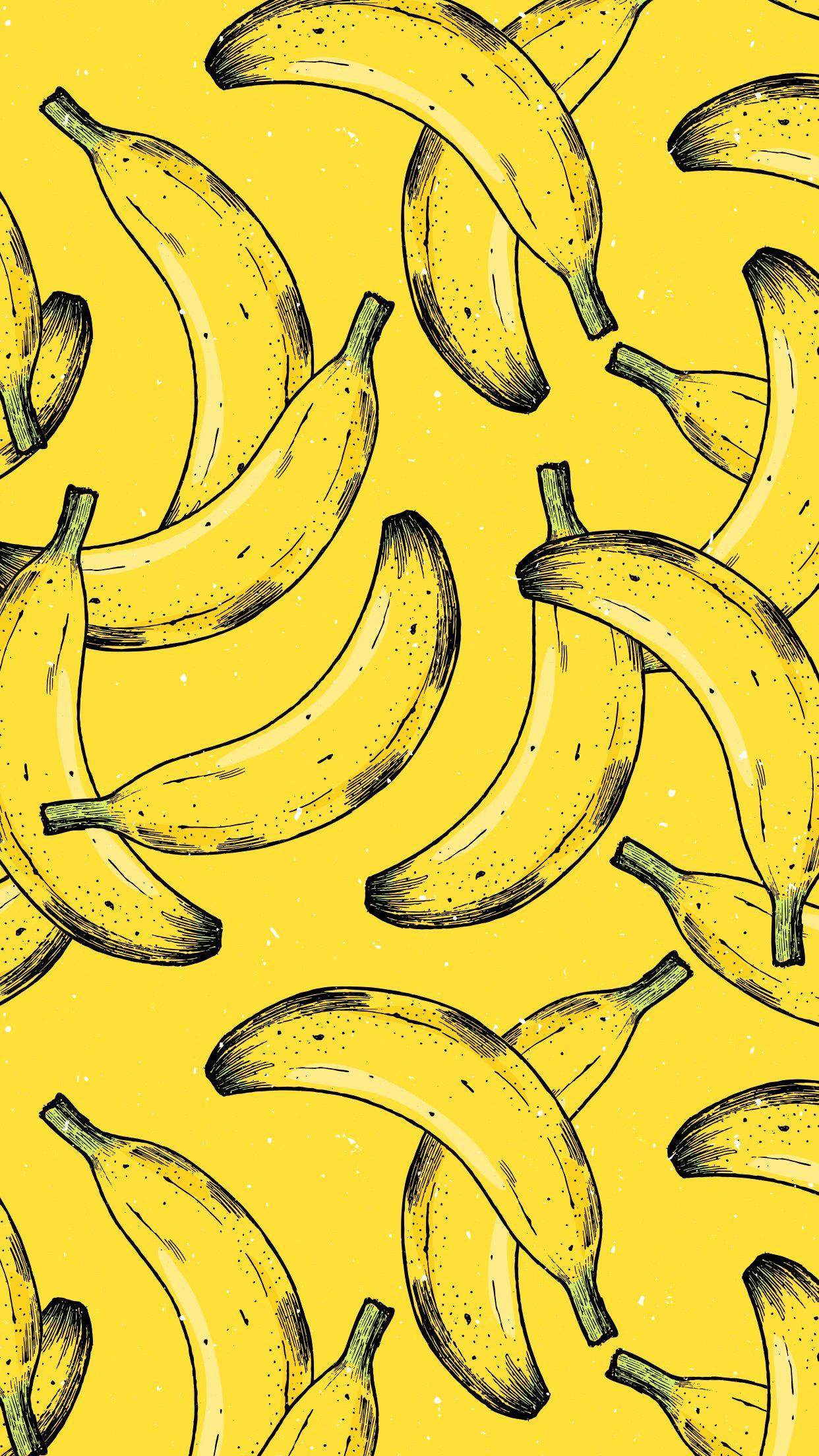 Banana Iphone Wallpaper Banana Wallpaper Yellow Wallpaper Iphone Background Wallpaper
