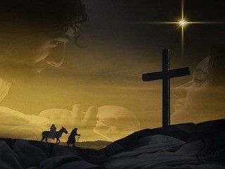 Christmas Background Christian.Cradle To Cross Christmas Backgrounds Free Manger To The