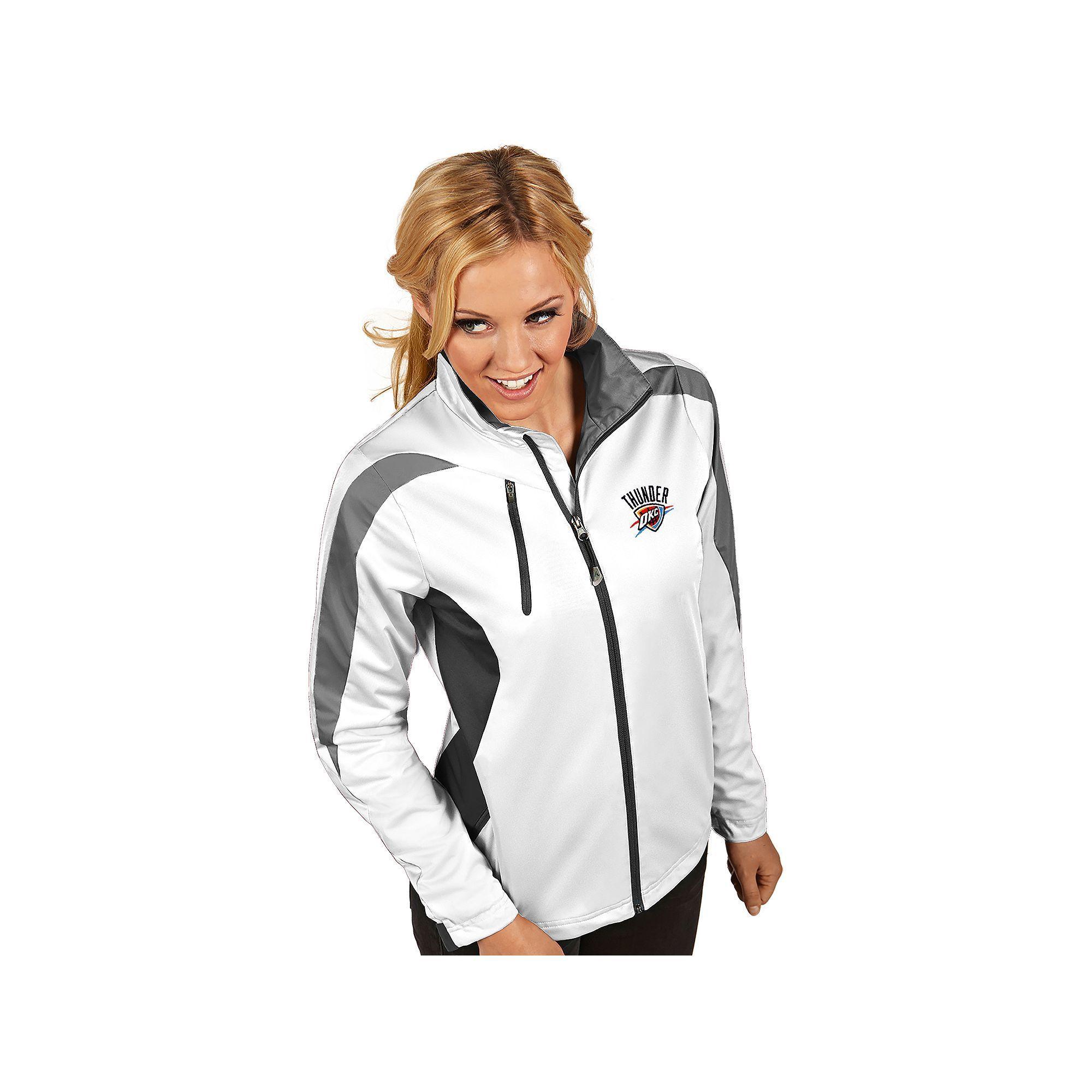 3a2009f9d Women s Antigua Oklahoma City Thunder Discover Full Zip Jacket ...