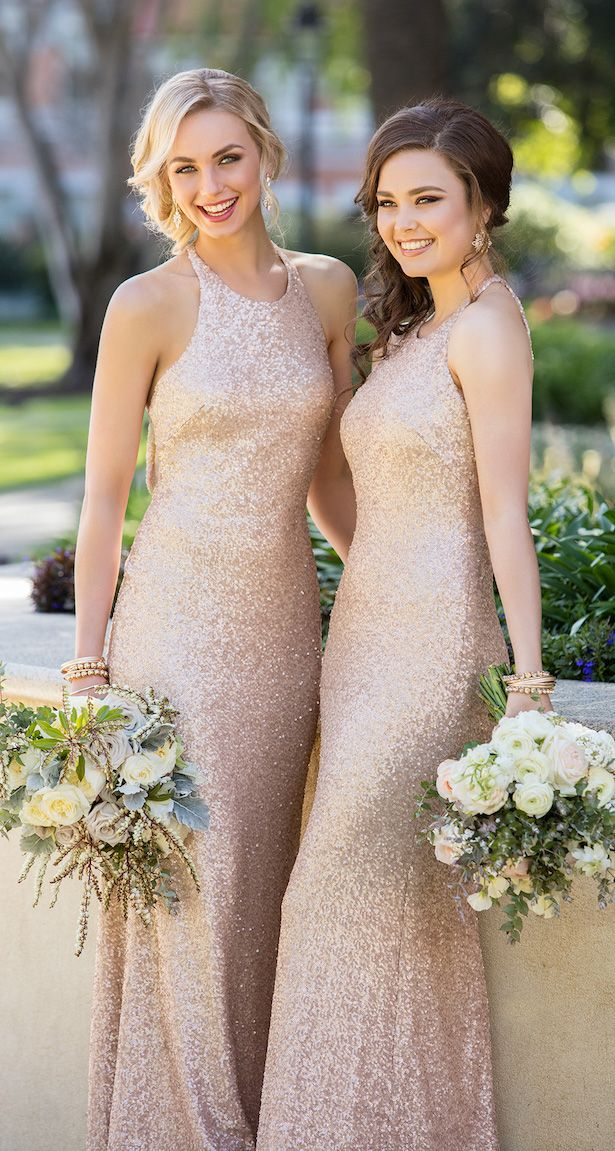 bd90ed8172d Floor Length Sequin Bridesmaid Dress by Sorella Vita