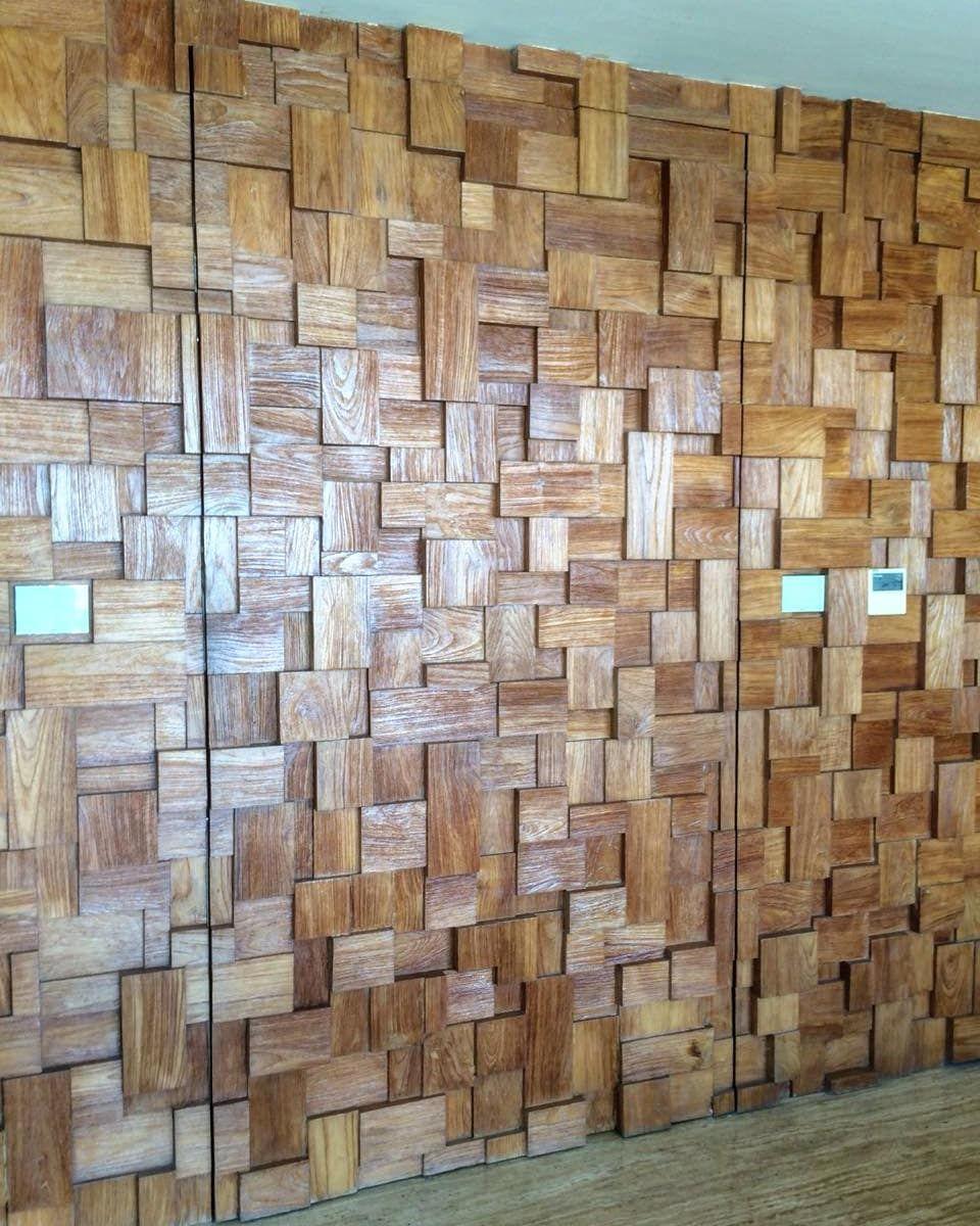 Natural wood mozaic dekkadence villa natural wood mozaic home
