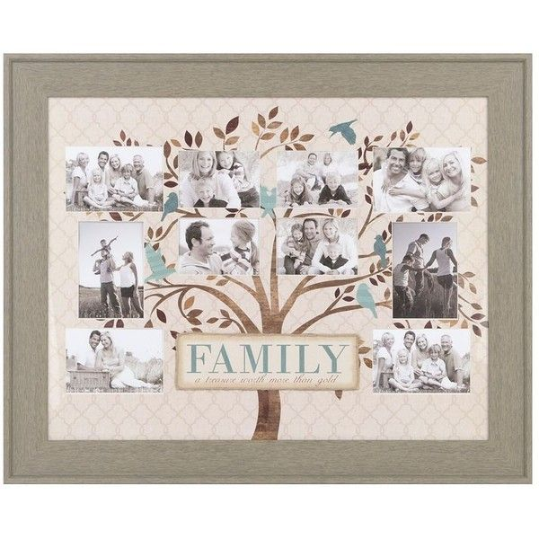 Blue & Brown Family Tree Collage Frame ($40) ❤ liked on Polyvore featuring home, home decor, frames, 4x6 collage frames, brown picture frames, blue frames, brown home decor and blue home decor
