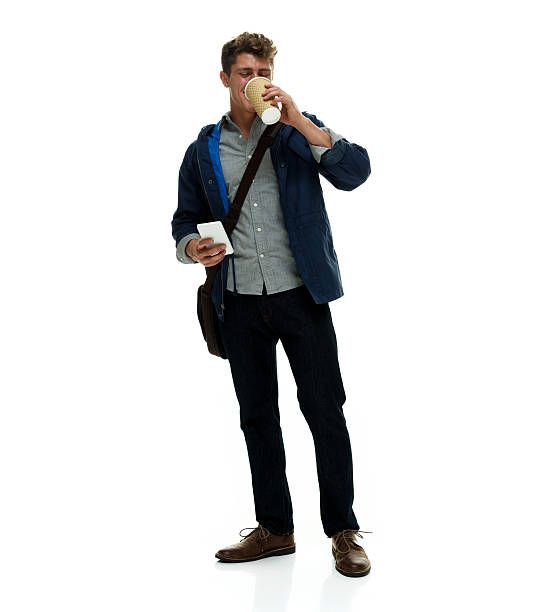 Man Drinking Coffee Stock Photo People Png People Cutout People Poses