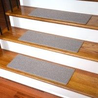 Best No Slip Treads For Stairs Ideas Awesome Stair Design With Brown Wooden Tread Covers And White Risers Also Black Iron Railing Combine Gray