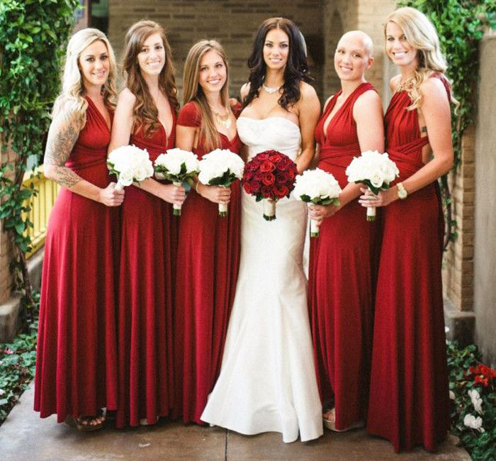 Bridesmaids Dresses Red Google Search