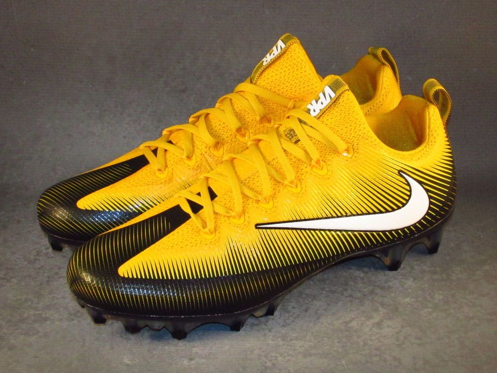 Men's Nike Vapor Untouchable Pro PF Football Lacrosse Cleats Gold #Nike  #PittsburgSteelers