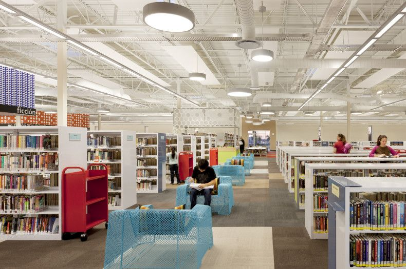 The McAllen Public Library In Texas Is Size Of Football Fields Largest Single Story United States