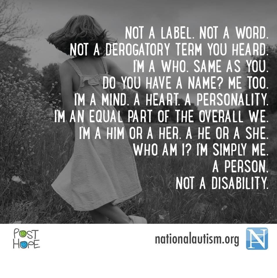 A person, not a disability! Learn about the CRPD