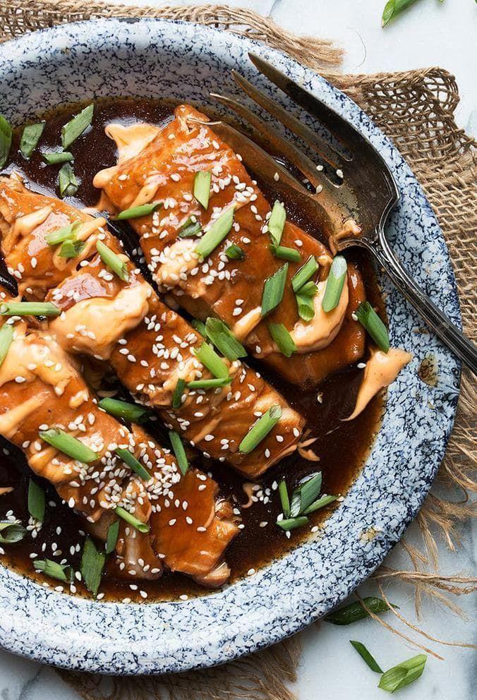 Photo of Instant Pot Teriyaki Salmon with Sriracha Mayo (plus oven version!) #teriyakisal…