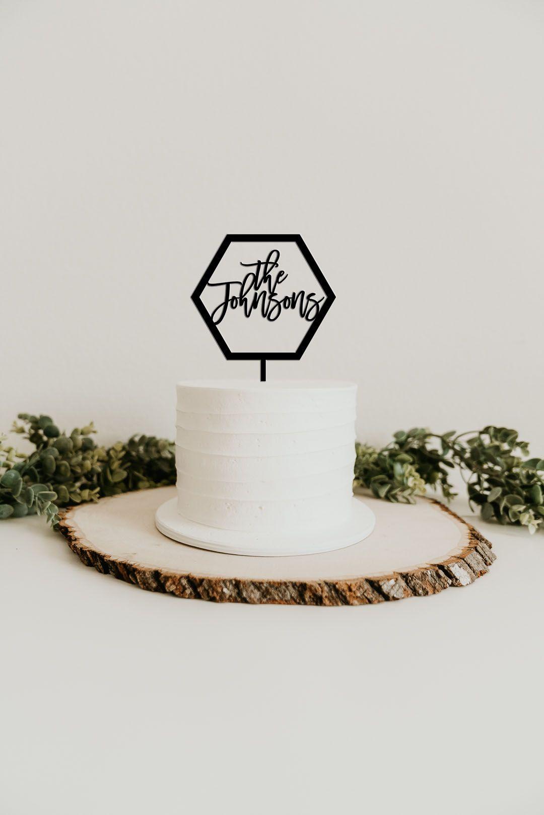 Custom last name cake topper custom cake topper wedding