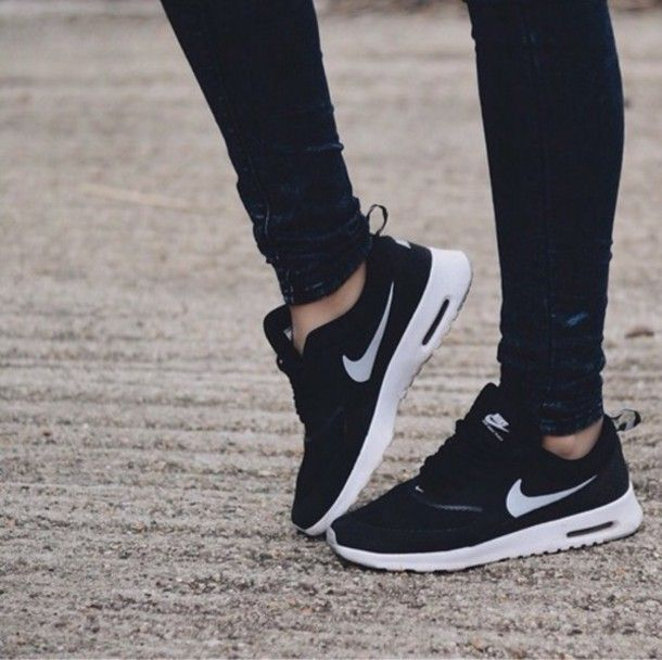 shoes nike air hipster grunge skinny jeans black skinny
