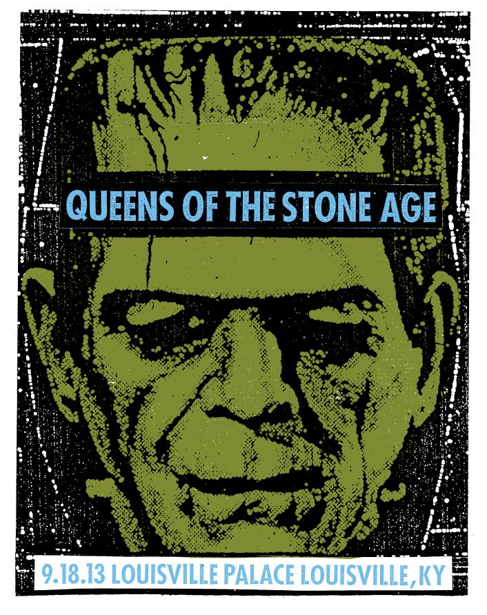 Print Mafia: Queens of the Stone Age - Louisville poster #QOTSA