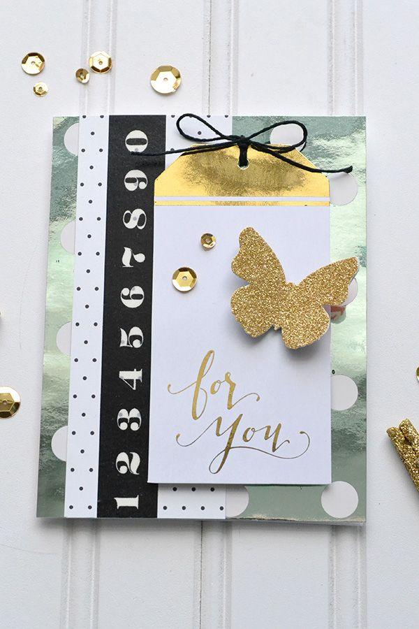 Diy Gold Foil Cards Heidi Swapp Minc Scrapbook Com Gold Diy