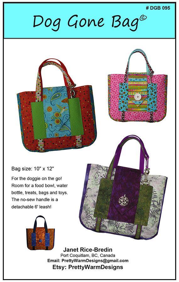 Bag Pattern PDF - Dog Bag Pattern - Pet Bag - Pet Accessories - Dog ...