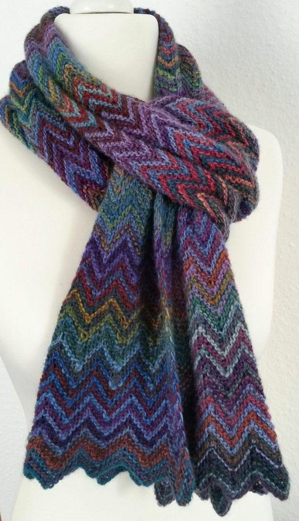 Free Knitting Pattern Zick Zack Scarf   Knitting   Pinterest ...