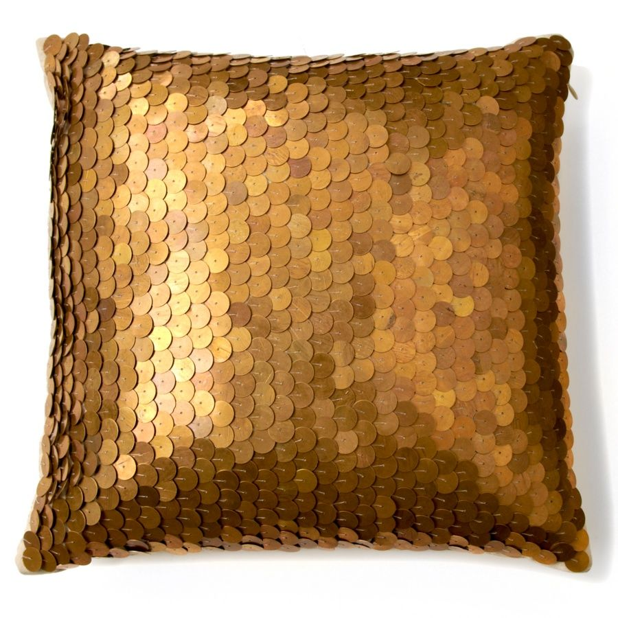 nate berkus metallic sequin pillow