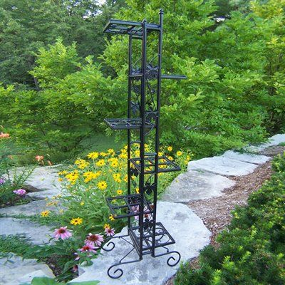 Oakland Living 5199 Bk Six Level Plant Stand At Atg Stores Plant Stand Tall Plant Stands Plant Stands Outdoor