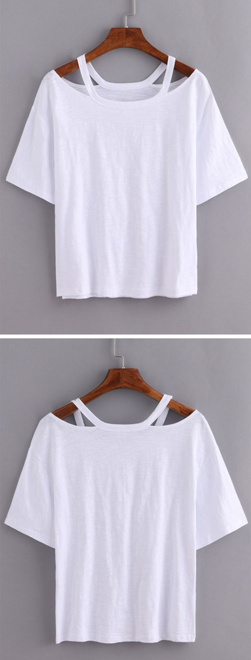 Exceptionnel Cutout Loose-Fit White T-shirt with <3 from JDzigner www.jdzigner  EZ02
