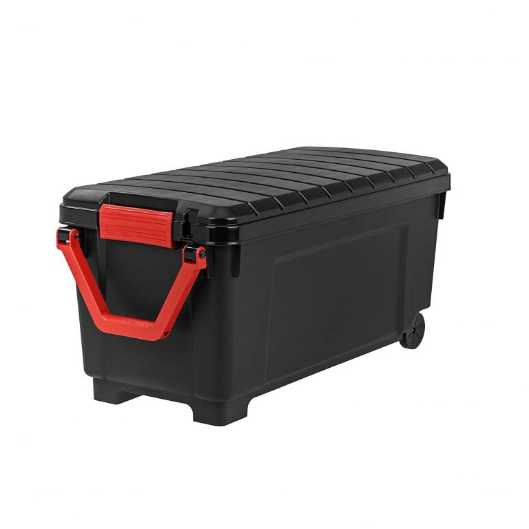 7 Iris Usa Inc 250080 Store It All Tote 43 Gallons Black Storage Trunk Rolling Storage Bins Rolling Storage Tote Storage