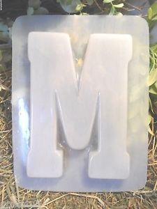 Image Is Loading Gostatue Mold Plaster Concrete Letter M Plastic